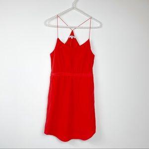 Madewell starview cami red dress 0 racerback silk